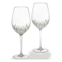 Waterford - Waterford Lismore Essence Goblet/Red Wine Pair - Waterford Lismore Essence Goblet/Red Wine Pair