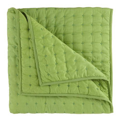 Voile Quilt, Green - You can never go wrong with a solid quilt. Add one that's sweet for a kids room or something sophisticated for a new dorm room.