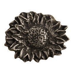 Anne at Home Hardware - Sunflower Oval - Small - Made in the USA - Anne at Home customized cabinet hardware enables even the most discriminating homeowner to achieve the look of their dreams. Because Anne at Home cabinet hardware is designed to meet your preferences, it may take up to 3-4 weeks to arrive at your door. But don't let that stop you - having customized Anne at Home cabinet knobs and pulls are well worth the wait! - Available in many finishes.