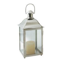 "Riado - Carriage Lantern 24"" PN - Old world design that is reminiscent of gas lanterns."