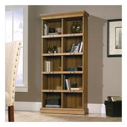 Sauder - Sauder Barrister Lane Tall Bookcase in Scribed Oak Finish - Sauder - Bookcases - 414725