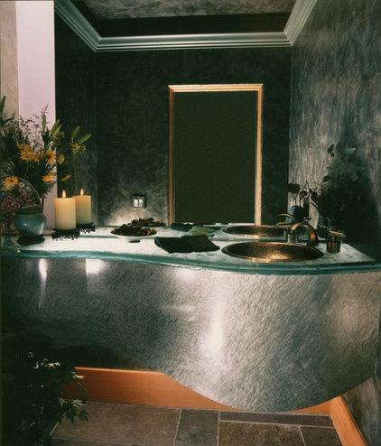Contemporary Powder Room by Susan Jay Design