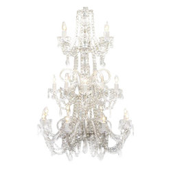 Murano Venetian All-Crystal Chandelier