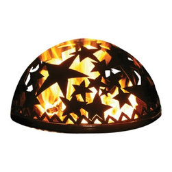 Good Directions - Good Directions 20 in. Starry Night Fire Dome Multicolor - 778S - Shop for Fire Pits and Fireplaces from Hayneedle.com! Get close to the warmth and glow of your fire pit without worry of being singed by an outgoing spark with the Good Directions 20 in. Starry Night Fire Dome. This dome spark screen is compatible with most found fire pits and its unique design features lively star shapes cut right into the heavy-duty steel. This makes for a very special fireside experience as the flames rise and cast shadows of dancing stars across your lawn or patio. Measures 20 diam. x 8.75H inches.About Good DirectionsGood Directions got its start by creating weathervanes and cupolas but it has expanded its line to include a wide range of decorative yet functional products for the home and garden including popular Fire Domes rain chains and garden weathervanes. The company continues to attract innovative artists and designers eager to lend their vision to the creation of exceptional products to enhance the home both indoors and out. No matter which way the wind blows you can count on Good Directions to show you the way to a beautiful home.
