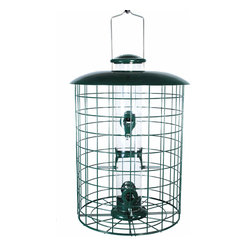 Woodlink - Caged 6 Port Seed Tube Feeder - Caged 6 Port Seed Tube Feeder. Caged tube feeders come fully assembled, satisfaction guaranteed. May be mounted on a 1 in pole no bracket required. Squirrel resistant.