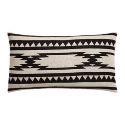 Cushion Cover, Black/Patterned - This soft pillow with a graphic design in black is easy to layer with other colors and styles.