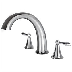 Ultra Faucets - Ultra Faucets UF65200 Two-Handle Tub Faucet - Two-handle design for precise temperature adjustment