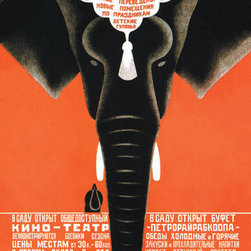 Buyenlarge - Has Just Arrived - A Large Party of Wild Animals - Leningrad Zoo 20x30 poster - Series: Soviet Commercial Design
