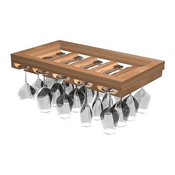 Wine Cellar Innovations - Designer Series Wine Racks Wineglass Rack - This wine Glass Rack adds the finishing touch to a elegant tasting area by providing storage for 15 glasses. Product requires assembly.