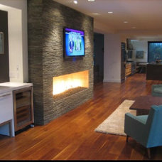 Contemporary Family Room by Euro Kitchens and Bath