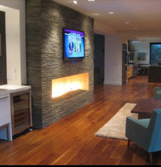 contemporary media room by Euro Kitchens and Bath