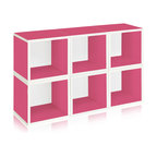 Way Basics - Modular Storage Cubes, Pink - This sleek and modern storage unit will hold all your stuff in style — and is easy on the environment to boot. It's sustainably made from recycled paper and uses paper dowels to hold the pieces together. But fear not, it's water resistant, is super easy to put together and is modular in every sense of the word. A six-pack of cubes comes ready to assemble in a range of configurations so you can stash books, boots, games and office gear anywhere you need a little cool organization.