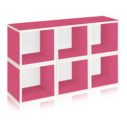 Way Basics - Way Basics Stackable Modular Storage 6 Cubes, Pink - This sleek and modern storage unit will hold all your stuff in style — and is easy on the environment to boot. It's sustainably made from recycled paper and uses paper dowels to hold the pieces together. But fear not, it's water resistant, is super easy to put together and is modular in every sense of the word. A six-pack of cubes comes ready to assemble in a range of configurations so you can stash books, boots, games and office gear anywhere you need a little cool organization.