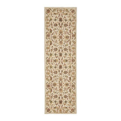 Safavieh - Hand-hooked Chelsea Tabriz Ivory Wool Runner (2'6 x 12') - Protect your hallway or entryway with this floral wool runner. Its 100-percent wool pile makes a soft landing for your bare feet, while its cotton canvas backing ensures long lasting durability.