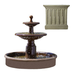 Campania International - Esplanade Two Tier Fountain - Verde (VE) - 635 lbs. Shipping is available throughout the continental United States. As these fountains are made to order,_please allow 4 to 6 weeks for delivery. Drop ship is curbside delivery only.