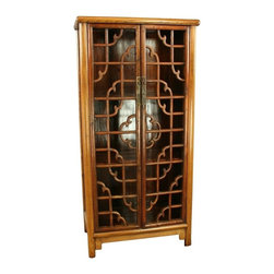 EuroLux Home - Consigned Antique Chinese Geometrical Bookcase Display - Product Details