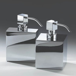Modo Bath - Harmony Chrome Soap Dispenser - Harmony 414 Soap Dispenser in Chrome With Metal Pump, Free Standing, Made in Germany