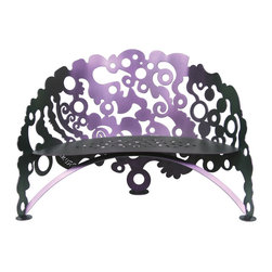 Cricket Forge - Electric Boogie Bench - Unleash your artistic and eclectic jive with this fun and funky Electric Boogie Bench. Youll just want to get up off of that thing and boogie!