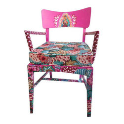 Hand Painted Virgin Guadalupe Chair - $450 Est. Retail - $400 on Chairish.com -