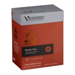 Starbucks - Starbucks Verismo 12-Count Teavana Masala Chai Tea Pods - A robust blend of sweetened black tea and rich cardamom and cinnamon spices. This is the same high quality tea you love from Teavana, blended and packaged specially for the Verismo System.