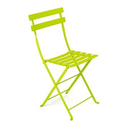 Fermob Bistro Metal Chair - Classic French bistro chairs would be my seat of choice at any tea party. But a bright citron bistro chair would be the punch of color that this avant-garde fete needs.