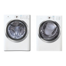 """Electrolux - ELECTROLUXLAUNDRYPAIR2 White Laundry Kit with IQ-Touch Series 27"""" Front-Load Was - The Electrolux 42 cu ft high efficiency front load washer features perfect steam so you can add steam to the wash cycle for whiter whites and improved stain removal The washer offers 11 Specialty cycles including Jeans Pet Beds and Fast Steam Clean s..."""