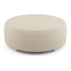 "Viesso - Mento 50"" Round Bench - Thick (Eco-Friendly) - This large round bench offers a clean and stylish piece for a lot of seating. The many fabrics give you create freedom to make a special piece for your space."