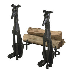 Dog Andirons 2pc. Set