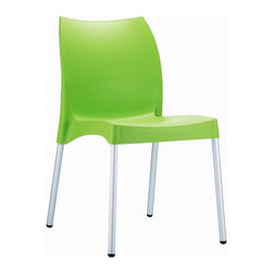 Siesta - Vita Resin Outdoor Dining Chair Apple Green (Set of 2) - -Made from commercial grade resin with anodized aluminum legs, with non-skid rubber caps.