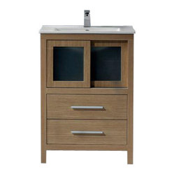 VIGO Alessandro Single Vanity White Oak