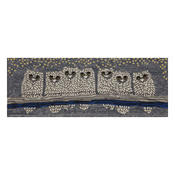 "Trans-Ocean Inc - Owls Night 27"" x 72"" Indoor/Outdoor Rug - Richly blended colors add vitality and sophistication to playful novelty designs. Lightweight loosely tufted Indoor Outdoor rugs made of synthetic materials in China and UV stabilized to resist fading. These whimsical rugs are sure to liven up any indoor or outdoor space, and their easy care and durability make them ideal for kitchens, bathrooms, and porches; Primary color: Grey;"