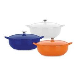 Mario Batali - Mario Batali by Dansk Classic 7 1/2-Quart Stew Pot - Mario Batali Classic Cookware provides even distribution of heat without hot spots and excellent heat retention. Lid ensures continuous natural basting.