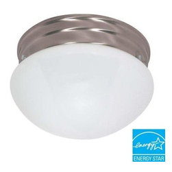Green Matters - Green Matters 2-Light Flush-Mount Brushed Nickel Medium Mushroom Fixture HD-405 - Shop for Lighting & Fans at The Home Depot. Featuring a decorative design with a finish that matches many decors, The Green Matters 2-Light Flush-Mount Brushed Nickel Medium Mushroom Fixture adds energy-efficient illumination to your home.