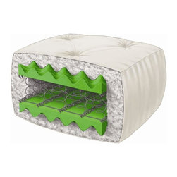 Serta - 9 in. Juniper Perfect Sleeper Full Futon Mattress - Color: Natural
