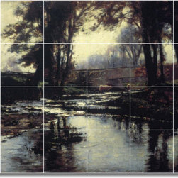 Picture-Tiles, LLC - Pleasant Run Tile Mural By Theodore Steele - * MURAL SIZE: 32x48 inch tile mural using (24) 8x8 ceramic tiles-satin finish.