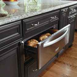 Decora Warming Drawer Cabinet - Dinner is served. Decora Cabinetry's warming drawer ensures dinner is hot and ready when guest arrive. http://www.decoracabinets.com/
