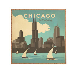 Anderson Design Group Chicago Framed Wall Art - Bamboo frame with high gloss print