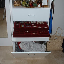 Double Jewelry Drawer with tilt-down front - Photo by Uke Lorenz