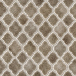 "Moroccan Mesh-Mounted Mosaic Field - Part of the Vibe Collection. Dimensions: 11"" x 11⅛"". Available in a variety of colors."