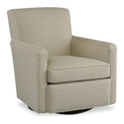 Sam Moore Cruz Swivel Glider - Natural - Tailored lines and neutral upholstery make the Sam Moore Ellen Cruz Swivel Glider - Natural a contemporary beauty. Its gliding and swivel abilities make it perfect for your home.About Sam MooreSince 1940, Sam Moore's hand-crafted upholstered furniture has offered extraordinary quality, comfort, and style. This Bedford, Virginia-based company proudly crafts its products right here in the USA. From classic to transitional to contemporary styles, Sam Moore takes time with every detail, making sure each piece is something you'll appreciate in your home.