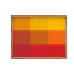 DENY Designs - Madart Inc Orange Sorbet Rectangular Tray - With DENY's multifunctional rectangular tray collection, you can use it for decoration in just about any room of the house or go the traditional route to serve cocktails. Either way, you��_ll be the ever so stylish hostess with the mostess!