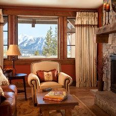 Rustic Family Room by Elizabeth Robb Interiors