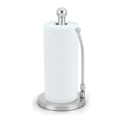 Cook N Home - Cook N Home Stainless Steel Paper Towel Holder - Elegant and durable, this stainless-steel paper towel holder provides a stylish highlight for your kitchen decor. Able to accommodate both regular and jumbo-sized rolls, this holder features a tension arm that secures the roll to the unit.