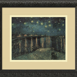 """Starlight Over the Rhone"" Framed Print by Vincent van Gogh"