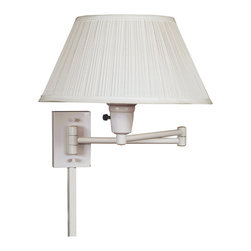 Design Craft - Tustin Wall Swing Arm with Three-Way Switch - Add function and style to any room with this wall swing arm lamp from Tustin. Featuring a three-way socket switch and clean,white finish,this lamp is a simple way to direct light where needed. It is a great addition to any bedroom or reading area.