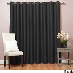 None - Extra Width Thermal 84 inch Blackout Curtain Panel - Adding style and elegance to a room is simple with extra-wide thermal blackout curtains. Available in a variety of colors,the triple-weave design of the curtains allows no light to enter the room and helps to block out noise while staying stylish.
