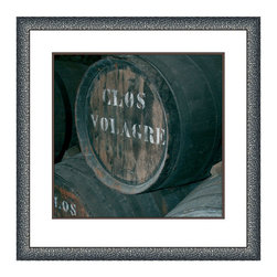 Big Fish - Big Fish Cellar VI Wall Art - Better With AgeUncork your great style with the Cellar VI Wall Art from Big Fish. Featuring an aging barrel of Clos de Volagre, this photo print has a fine artistic feel and old-world appeal. Put it in your kitchen or bar area as the perfect accent for any vinophile. It adds great vintage character to chic modern homes as well as sophisticated transitional spaces. Plus, this piece comes framed so you can hang it with ease or gift it to a wine-loving friend. Cheers!Comes in a finished wood frameMounting hardware includedMade in the USA