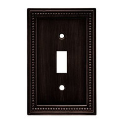 Liberty Hardware - Liberty Hardware 64411 Beaded WP Collection 3.19 Inch Switch Plate - The Beaded design adds elegance and sophistication to every room. The Venetian Bronze finish brings distinguished style and grace to any room. Quality zinc die cast base material. Available in the 10 most popular wall plate configurations. Width - 3.19 Inch, Height - 5 Inch, Projection - 0.3 Inch, Finish - Venetian Bronze, Weight - 0.33 Lbs.