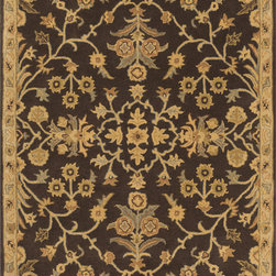 Surya - Surya Caesar CAE-1151 (Black, Charcoal) 8' Square Rug - Surya's best selling creations have been infused with possibilities as the Caesar collection takes on new life. Designer color combinations including deep browns, charcoal gray, and muted red make these time-honored pieces suitable for any interior. Hand tufted in India of 100% wool, each rug is available in over 20 sizes, and in a variety of styles such as round, square, oval and mansion-sized.