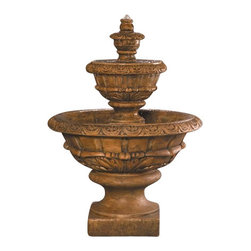 Roma Outdoor Fountain, Foreste - The Roma Outdoor Fountain with its traditionally shaped tiered look is a piece of stunning work that will surely amaze anyone who sees it. This well-defined fountain has been designed and handmade by professional craftsmen in the USA. It's a valuable investment that will be cherished by your family for the coming years.